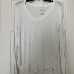 American Eagle White Long Sleeve